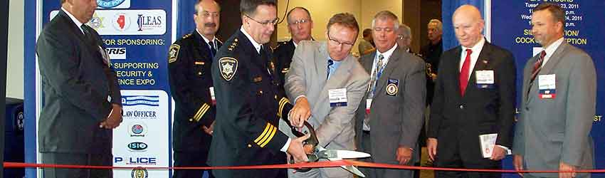 trade show ribbon cutting